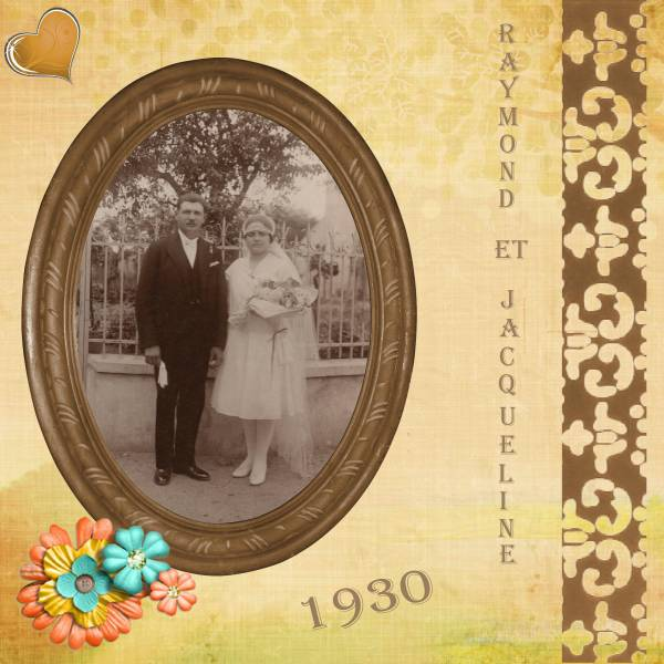 Mariage de mes grands-parents paternels